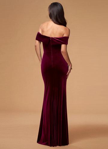 back_Blush Mark Sweet Thing {Color} Velvet Maxi Dress