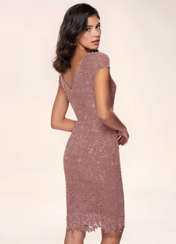 back_Blush Mark Heavenly Kiss {Color} Lace Bodycon Short Dress