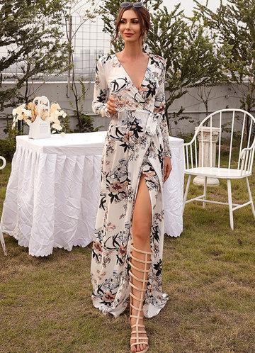 front_Missord Surplice Neck Belted Floral Prom Dress