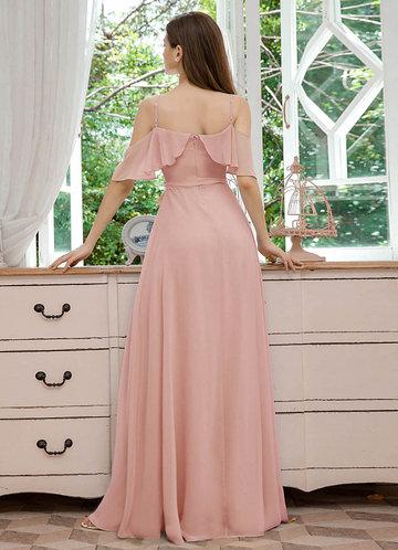 back_EVER-PRETTY Cold Shoulder Belted Split Thigh Dress