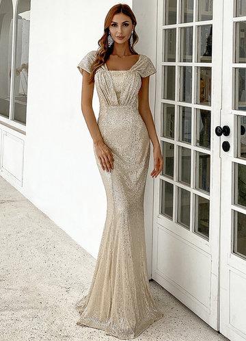 front_Missord Mermaid Hem Sequins Dress
