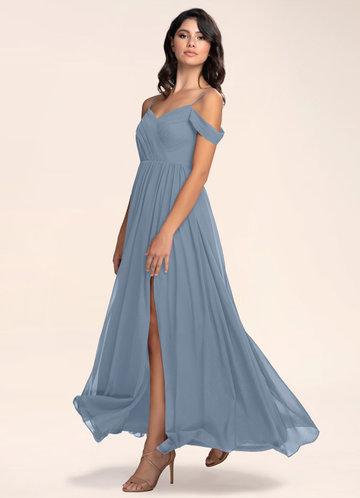Philosophy Of Love Dusty Blue Maxi Dress