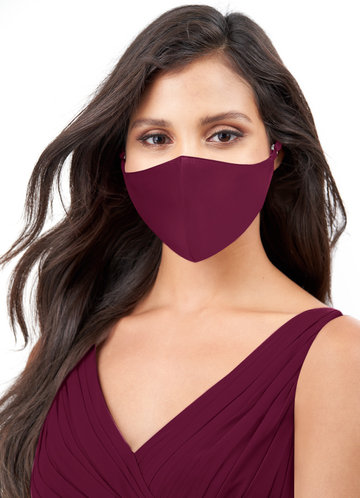 Azazie Non-Medical Matte Satin Reusable Face Mask With Adjustable Loop
