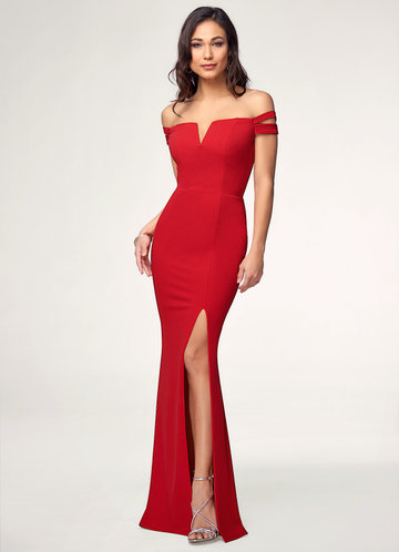 Love Letter Red Stretch Crepe Maxi Dress