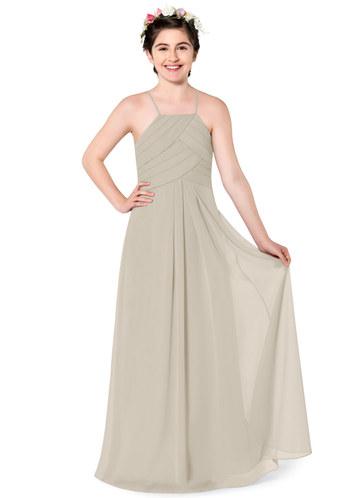 Taupe or Champagne Bridesmaid Dresses Junior