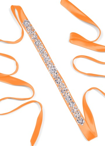 Charmeuse Sash with Starlight Beading