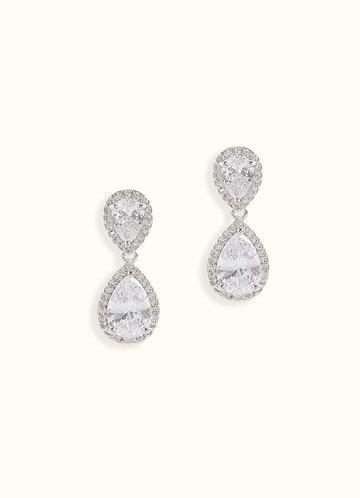 Stunning Silver Teardrop Earrings