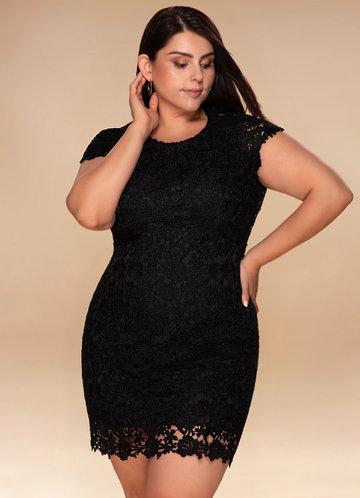 Spoil Me Backless Black Lace Dress