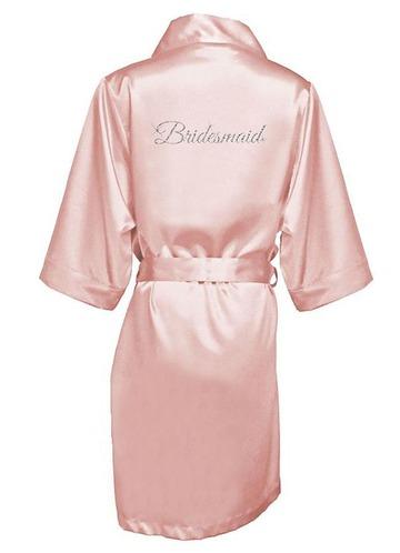 Azazie Glitter Print Bridesmaid Satin Robe