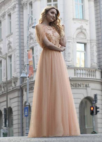front_EVER-PRETTY Zip Back Contrast Sequin Mesh Dress