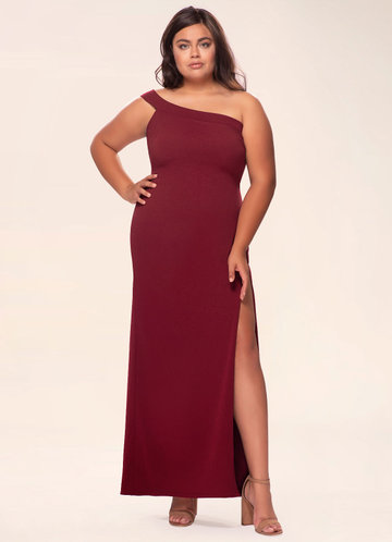 front_Blush Mark Plus Size Iconic  Maxi Dress