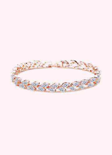 front_Silver Laurel Leaf Bracelet