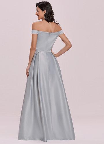 back_EVER-PRETTY Off Shoulder Zip Back Satin Dress