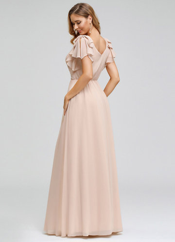 back_EVER-PRETTY Plus Size Ruffle Sleeve Ruched Bodice Evening Dresses