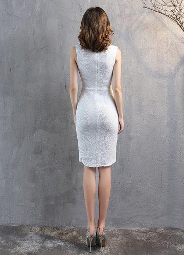 back_Kalinnu Sleeveless Wrap Sequin  Midi Dress