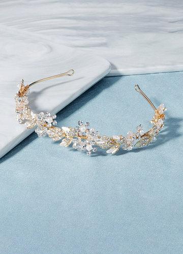 back_Crystal Gilded Floral Vine Headband