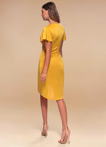 back_Blush Mark Double the Fun {Color} Surplice Midi Dress