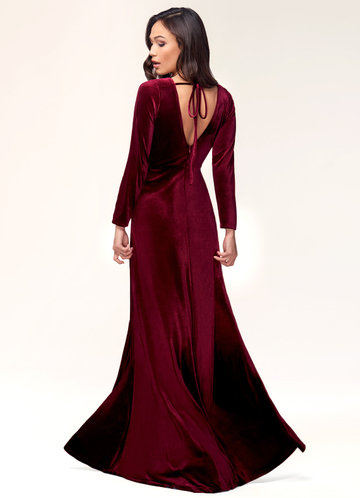 back_New Moon {Color} Velvet Maxi Dress