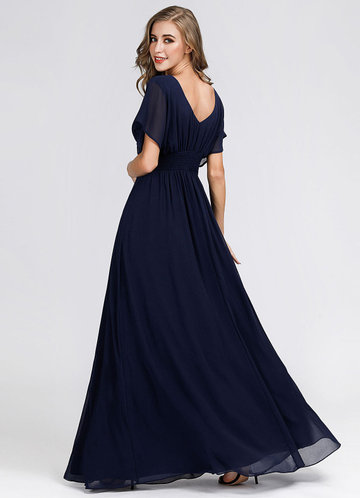 back_EVER-PRETTY Pleated Bodice Ruched Empire Waist Prom Dress