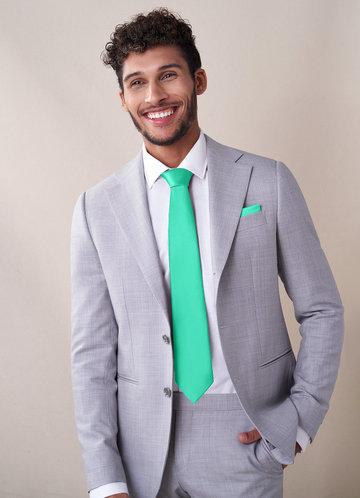 front_Gentlemen's Collection Matte Satin Wide Tie