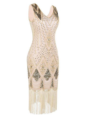 back_Blush Mark 1920s Gatsby Cocktail Sequin Art Deco Flapper Dress