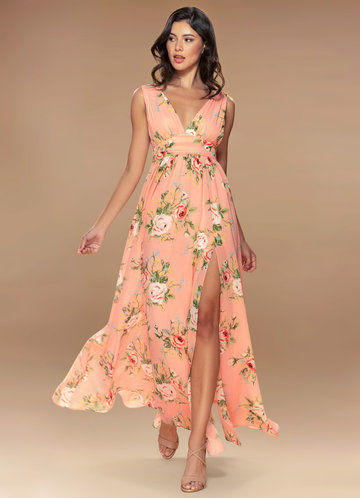 Blush Mark Versailles blush floral print Maxi Dress