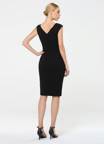 back_EVER-PRETTY Asymmetrical Neck Split Hem Dress