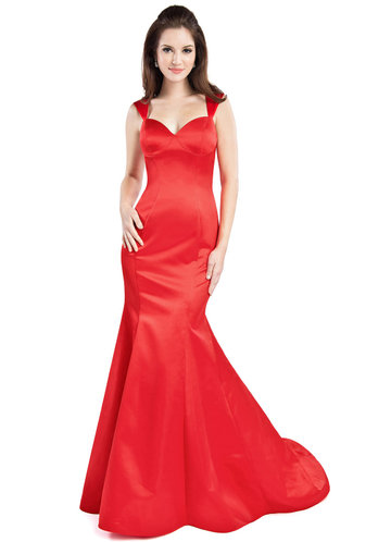 front_Sapphire {Color} Floor-Length Satin Sweetheart Mermaid