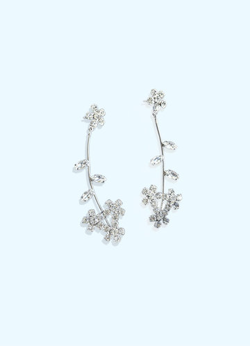 front_Daisy Floral Drop Earrings