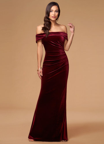 front_Sweet Thing {Color} Velvet Maxi Dress