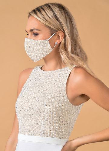 back_Azazie Non-Medical Alencon Lace Reusable Face Mask