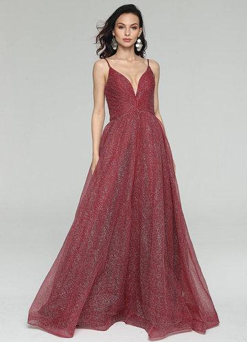 front_AZ Glitter Girl Prom Dress
