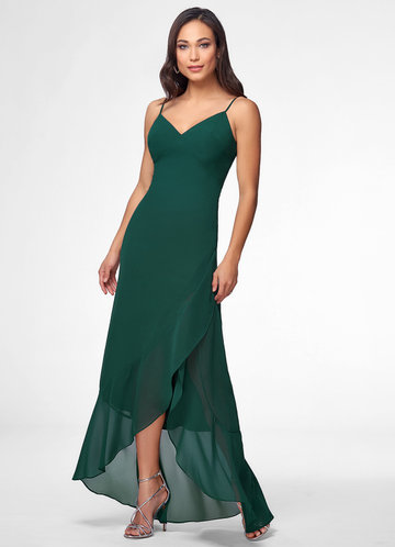 Emerald Sea Forest Green Maxi Dress