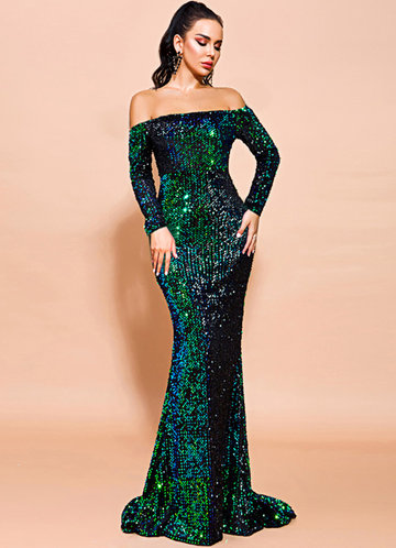 front_Missord Backless Sequin Mermaid Dress