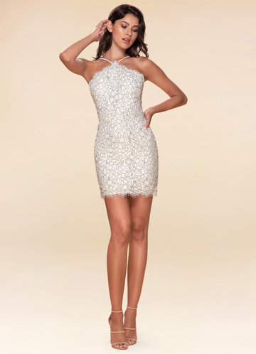 Golden Hour Ivory Lace Bodycon Dress
