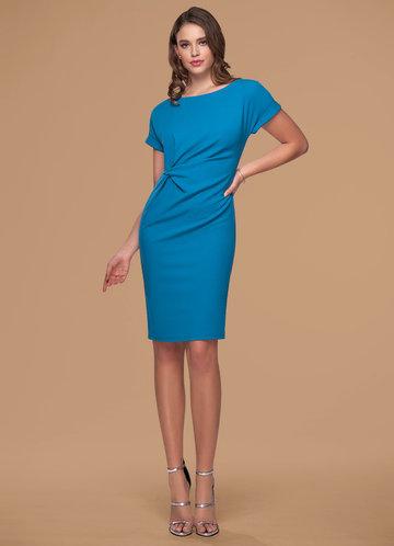 New Spring Royal Blue Midi Dress