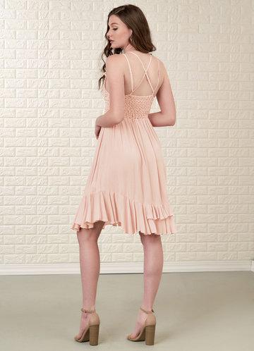 back_Blush Mark Imagining {Color} Mini Dress