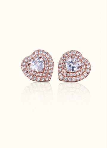 front_Heart of Diamonds Stud Earrings