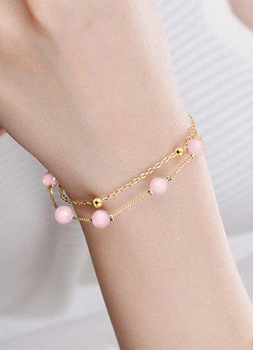 front_Exquisite double-layer Bracelet