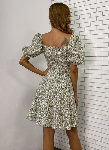 back_Missord Floral Puff Sleeve Dress