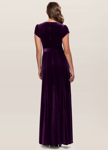 back_Blush Mark Dreaming Of You {Color} Velvet Maxi Dress