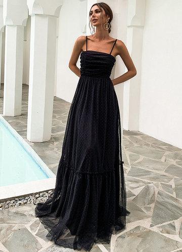 front_Missord Frill Ruffle Hem Mesh Prom Dress