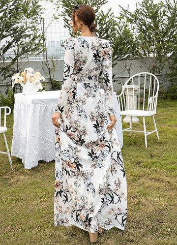 back_Missord Surplice Neck Belted Floral Prom Dress