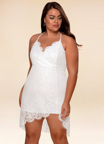Lovebug White Lace Bodycon Dress
