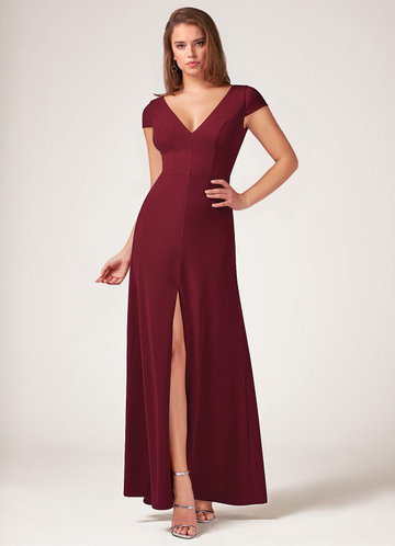 Blush Mark Perfect Timing burgundy Maxi Dress