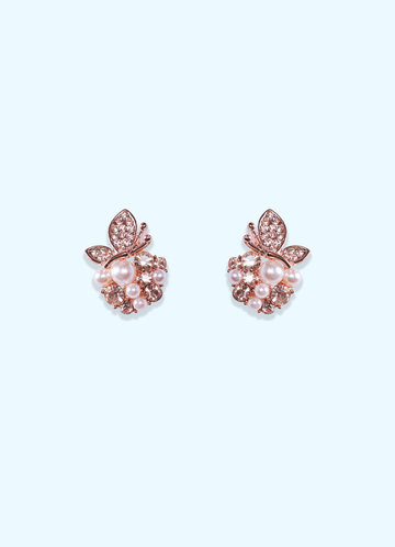 back_Pearl and Rose Gold Earrings