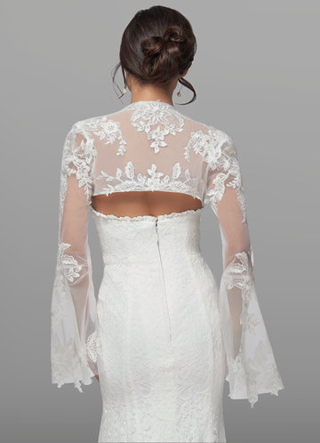 back_Azazie Haggith Lace Tulle Wrap