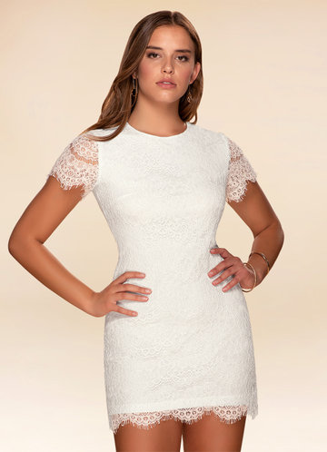 Tea Time Ivory Lace Shift Dress