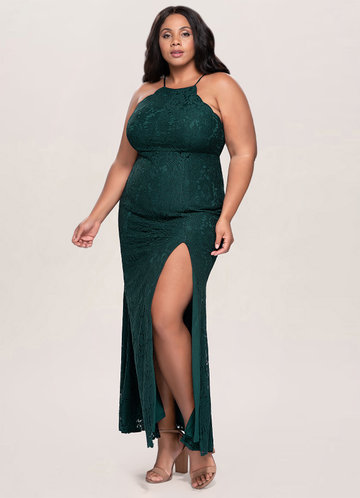 front_Blush Mark Plus Size Mademoiselle Lace Maxi Dress