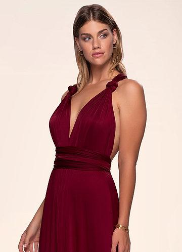 Venice Convertible Burgundy Maxi Dress